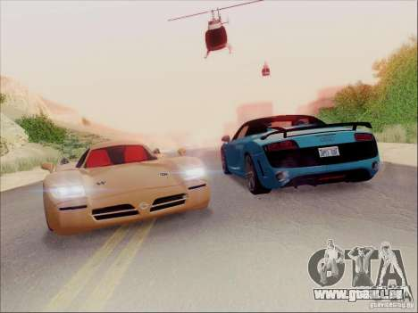 Nissan R390 Road Car v1.0 pour GTA San Andreas vue de droite