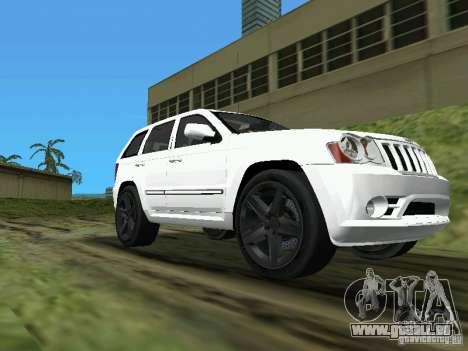 Jeep Grand Cherokee SRT8 TT Black Revel pour GTA Vice City sur la vue arrière gauche