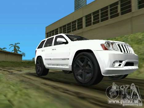 Jeep Grand Cherokee SRT8 TT Black Revel für GTA Vice City zurück linke Ansicht