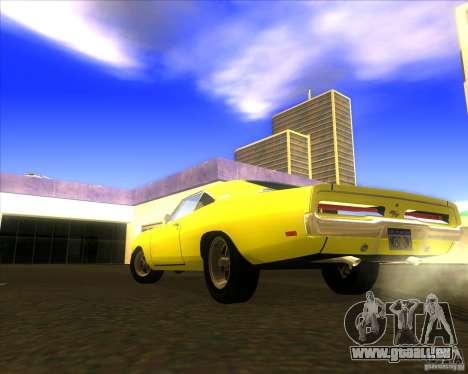 Dodge Charger RT 1969 pour GTA San Andreas sur la vue arrière gauche
