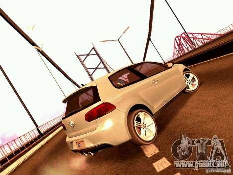 Volkswagen Golf R 2010 pour GTA San Andreas laissé vue