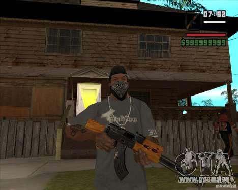 AK-47 de Xenus 2 pour GTA San Andreas troisième écran