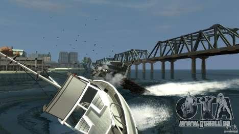 Biff boat pour GTA 4 Vue arrière de la gauche