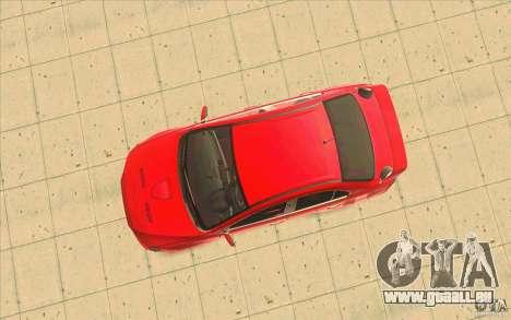 Mitsubishi Lancer Evolution X MR1 pour GTA San Andreas vue arrière
