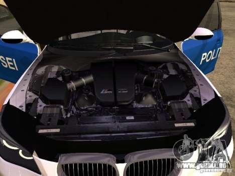 BMW 5-er Police pour GTA San Andreas vue arrière