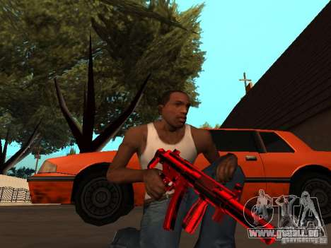 Red Chrome Weapon Pack pour GTA San Andreas septième écran