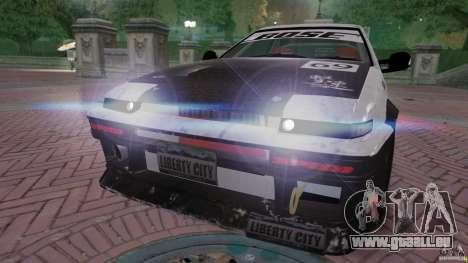 Toyota Corolla GT-S AE86 pour GTA 4 est un droit