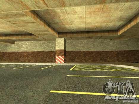 Le nouveau garage souterrain par la police à Los pour GTA San Andreas quatrième écran