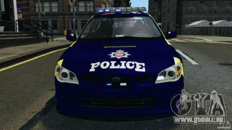 Subaru Impreza British ANPR [ELS] für GTA 4 Unteransicht