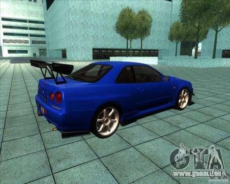 Nissan Skyline R-34 GT-R M-spec Nur pour GTA San Andreas vue de droite