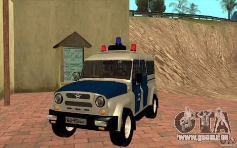 Bobik UAZ-3159 Police c. 2 pour GTA San Andreas