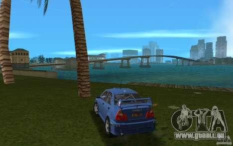 Mitsubishi Lancer Evo VI pour GTA Vice City sur la vue arrière gauche