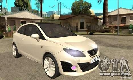 Seat Ibiza Cupra 2009 pour GTA San Andreas vue arrière