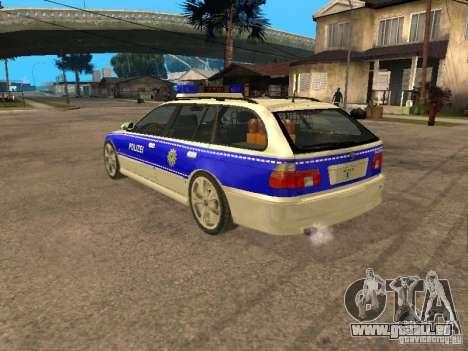 BMW 525i Touring Police pour GTA San Andreas laissé vue