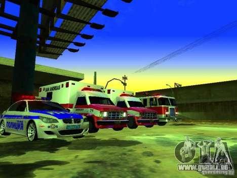 Ambulance 1987 San Andreas pour GTA San Andreas roue