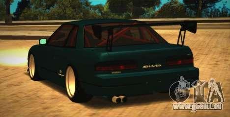 Nissan Silvia S13 Onevia pour GTA San Andreas sur la vue arrière gauche