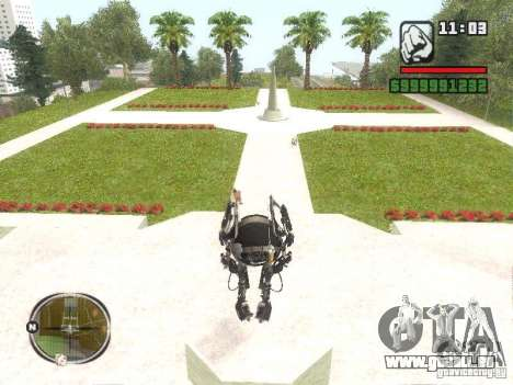 Robot de Portal 2 # 2 pour GTA San Andreas deuxième écran