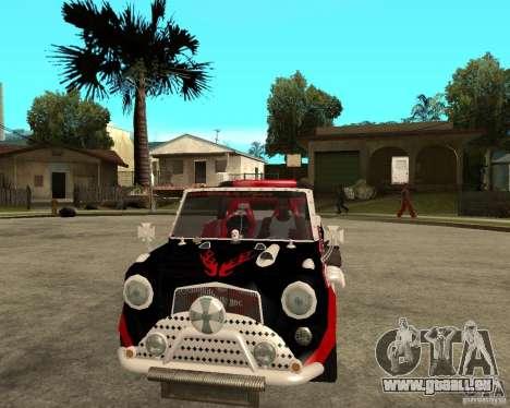 MiniCooper Tuning HOVADO 1 (MaxiPervers.cz) v.2 pour GTA San Andreas vue arrière
