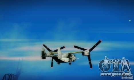 MV-22 Osprey für GTA San Andreas Rückansicht