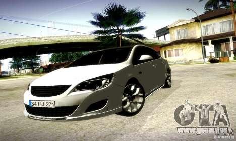 Opel Astra Senner pour GTA San Andreas laissé vue