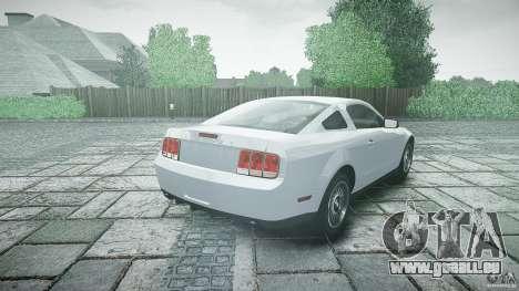 Ford Shelby GT500 pour GTA 4 Vue arrière de la gauche