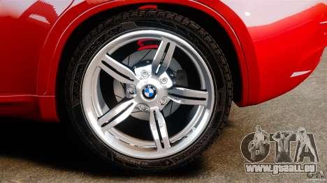 BMW X6 M 2010 pour GTA 4 est une vue de l'intérieur