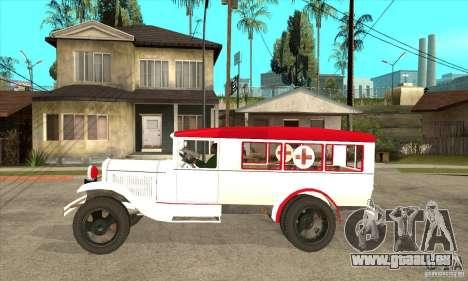 Ambulance GAZ AA pour GTA San Andreas laissé vue