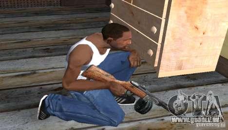 PPSH-41 pour GTA San Andreas troisième écran