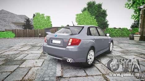Subaru Impreza WRX 2011 pour GTA 4 est un côté