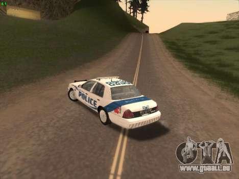Ford Crown Victoria Vancouver Police pour GTA San Andreas vue arrière