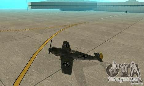 Bf-109 für GTA San Andreas zurück linke Ansicht