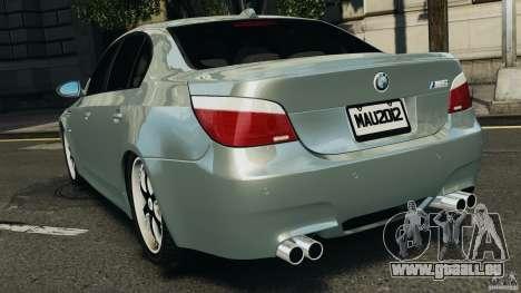 BMW M5 E60 2009 v2.0 pour GTA 4 Vue arrière de la gauche