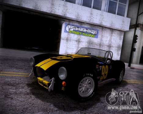 Shelby Cobra 427 Full Tunable pour GTA San Andreas vue de droite