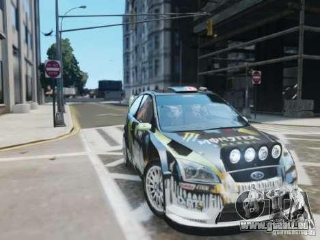 Ford Focus RS WRC pour GTA 4 Vue arrière