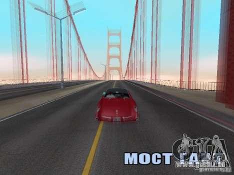 Camera Shake pour GTA San Andreas troisième écran