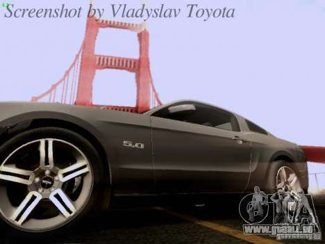 Ford Mustang GT 2011 pour GTA San Andreas moteur