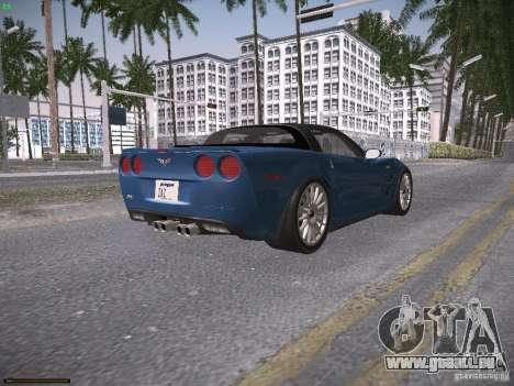 Chevrolet Corvette ZR1 pour GTA San Andreas vue arrière