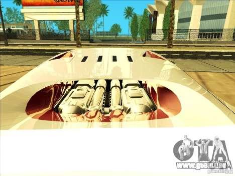 Bugatti Veyron pour GTA San Andreas vue intérieure