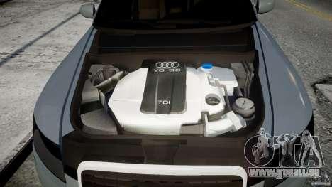 Audi A6 TDI 3.0 pour GTA 4 Vue arrière