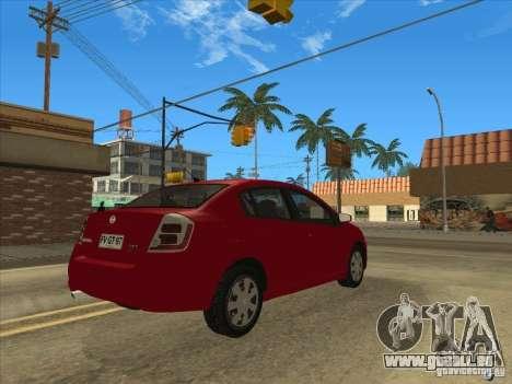 Nissan Sentra 2012 pour GTA San Andreas laissé vue