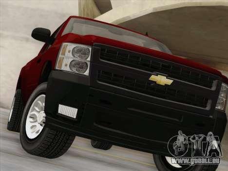 Chevrolet Silverado 2500HD 2013 pour GTA San Andreas vue de dessus