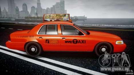 Ford Crown Victoria 2003 v.2 Taxi pour GTA 4 est une vue de l'intérieur