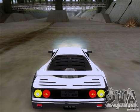 Ferrari F40 pour GTA San Andreas laissé vue