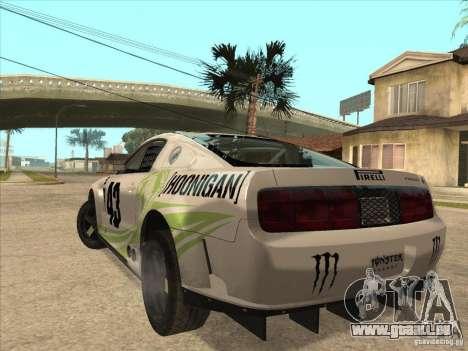 Ford Mustang Ken Block für GTA San Andreas linke Ansicht