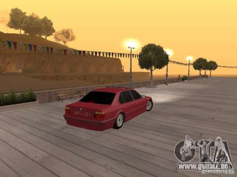 BMW 750iL e38 diplomate pour GTA San Andreas vue arrière