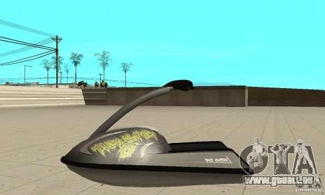 Scooter de mer pour GTA San Andreas vue arrière