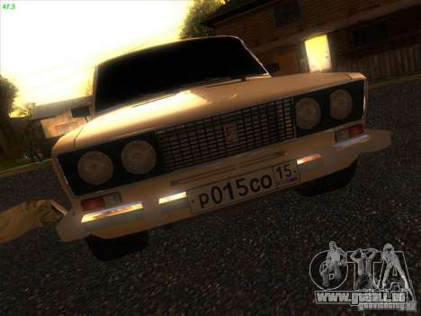 VAZ 2106 Tuning Licht für GTA San Andreas Innenansicht