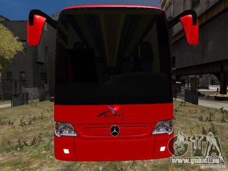Mercedes Travego pour GTA 4 vue de dessus