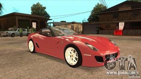Ferrari 599 GTO 2010 V1.0 für GTA San Andreas Rückansicht