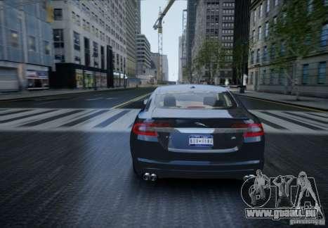 Jaguar XFR 2010 V.2.0 pour GTA 4 est une vue de l'intérieur